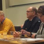 Delar av panelen, från vänster Sven Christer Nilsson (delvis skymd) Ulf Henricsson, Peter Nordlund (delvis skymd) Ronald Forsberg och Eva Sonidsson. Foto: Bengt Sandström