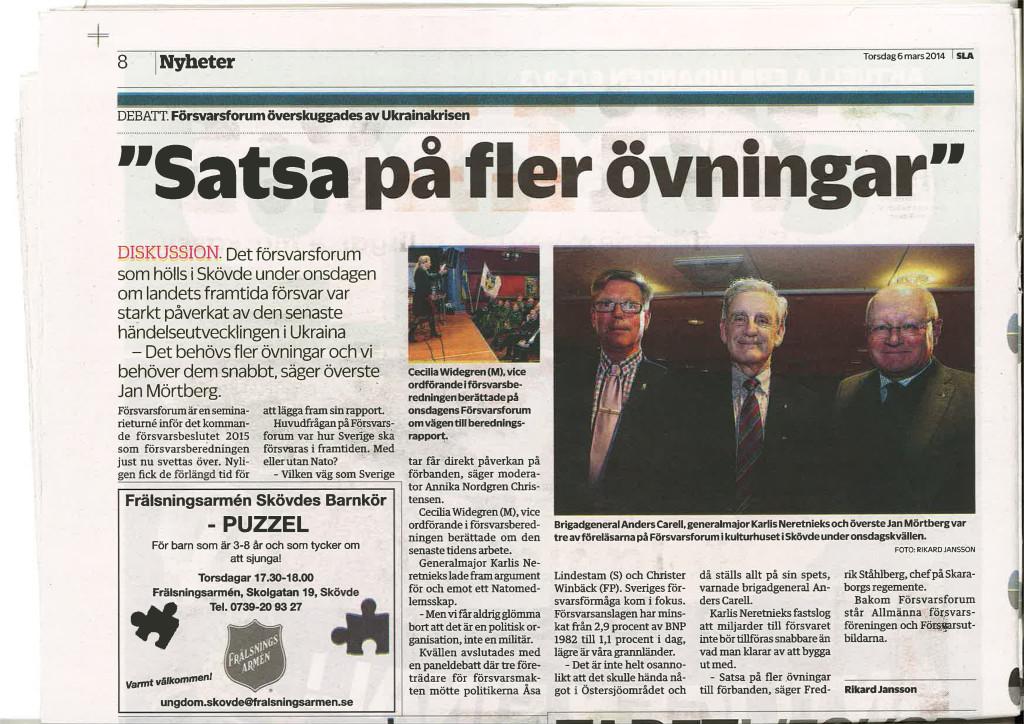 Artikel från Skövde Nyheter
