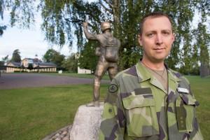David Bergman. Foto: Torbjörn Gustafsson / Försvarsmakten.