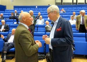 Peter Nordbeck och Sven Christer Nilsson under pausen