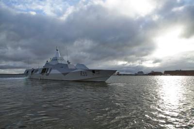 Försvarsmaterielkostnaderna ökar snabbt. Bilden visar korvetten Härnösand. Foto: Jimmie Adamsson, Försvarsmakten.