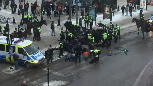 Nazistdemonstration Stockholm. Källa SVT