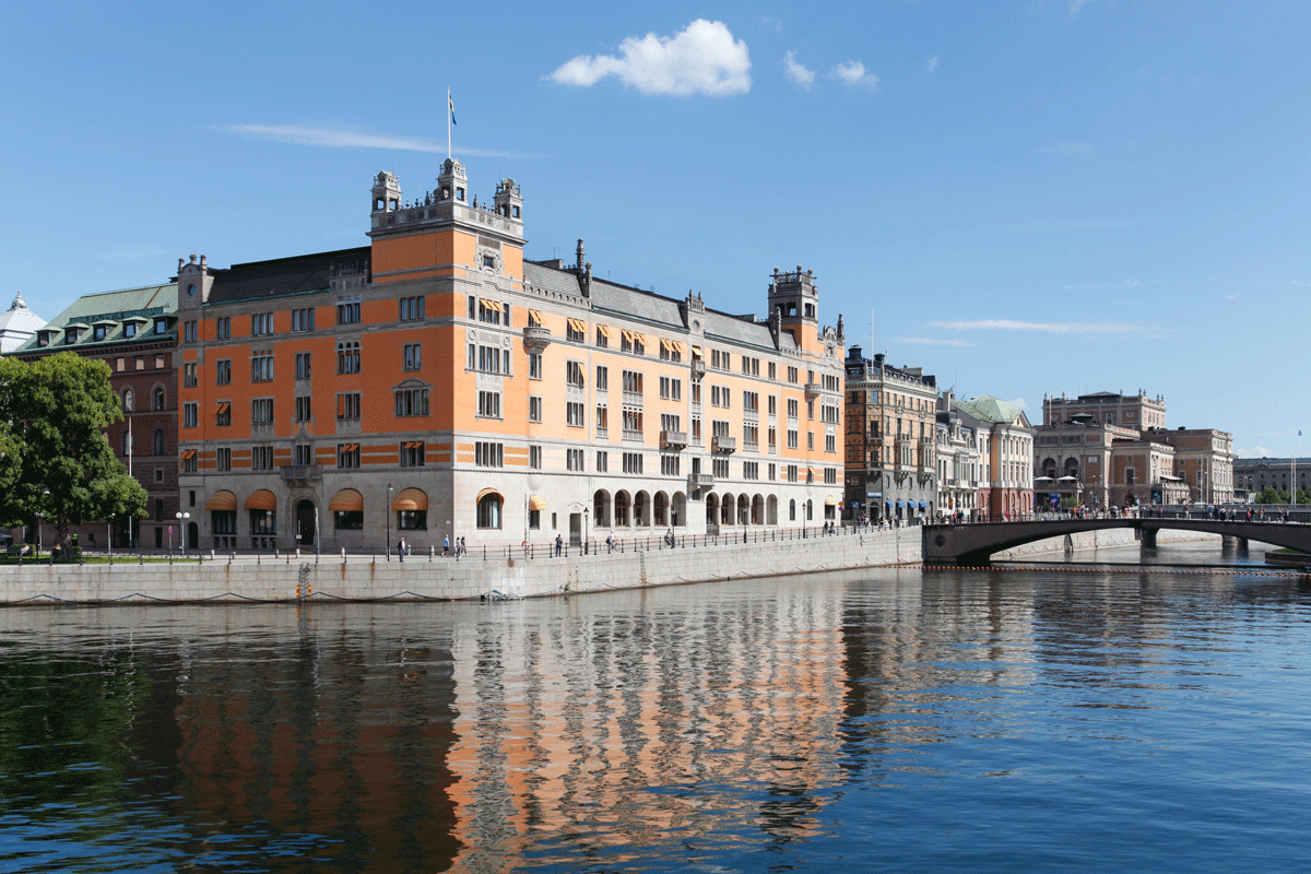 Stockholm, Sweden - July 7 2017: Rosenbad building, the prime minister's office and the governments chancellery. Photo: Michael715 / Shutterstock.com.