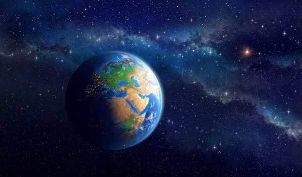 Planet Earth in deep space. Detailed view of European, African and Asian continent. Elements of this image furnished by NASA. Photo: titoOnz/Shutterstock