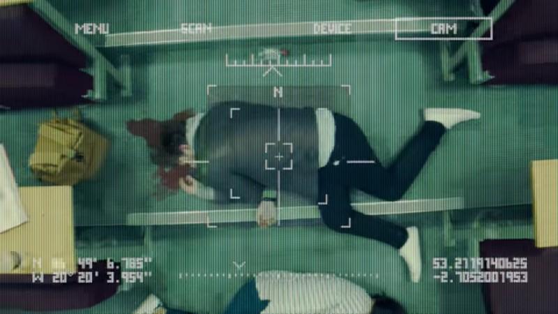 """Oskyldiga studenter mördas i en ny propagandafilm av en svärm """"Slaughterbots"""". Den emotionell vinklade filmen utnyttjar mänsklig rädsla för att tvinga fram ett förhastat totalförbud för autonoma vapensystem. Foto: skärmdump från YouTube."""