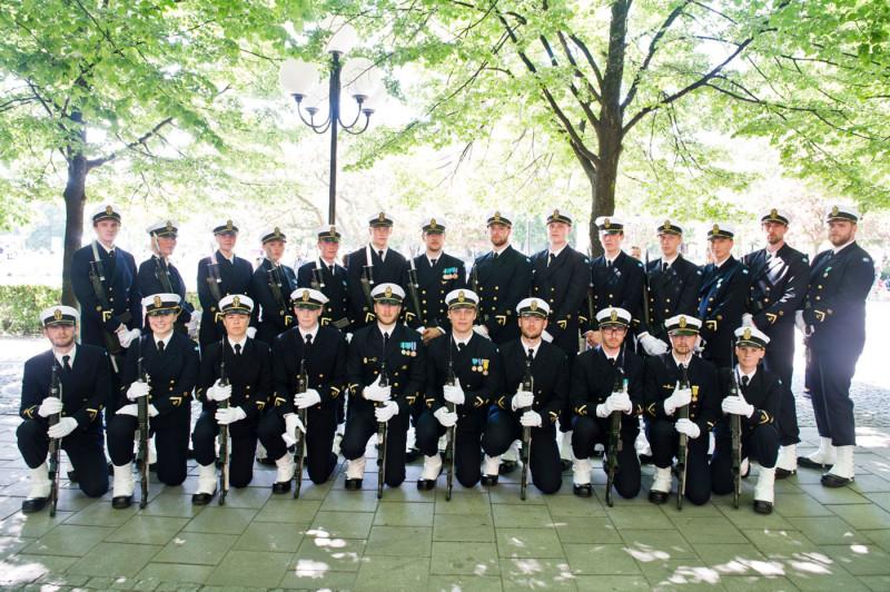 Kadetter från Sjöstridsskolan. Foto: Jimmy Croona, Försvarsmakten.