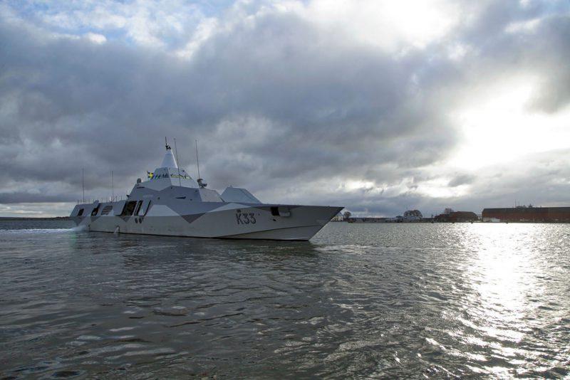 Lars Wedin argumenterar för ett stärkt sjöfartsskydd.Foto: Jimmie Adamsson, Försvarsmakten.
