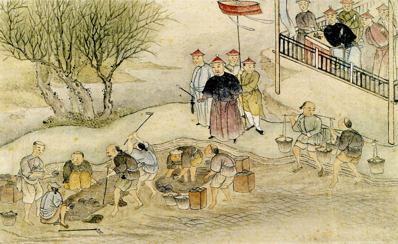 Kineser förstör opium. Källa: Wikimedia Commons.