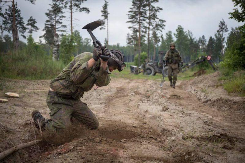 Finska ingenjörer under övningen Sabre Strike 18. Källa: Finska Försvarsmakten