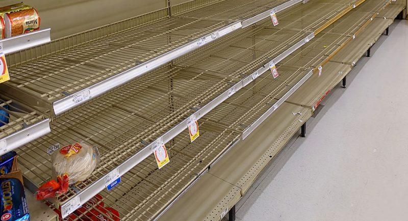 Resultat efter cirka tre dagars avbrott i leveransflödet. Bild: Shutterstock.com