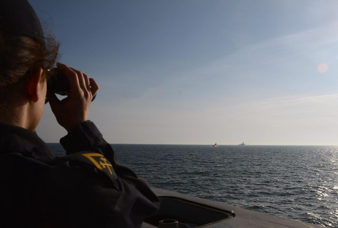 På vakt varje dag, året runt - för Sverige. Foto: Försvarsmakten