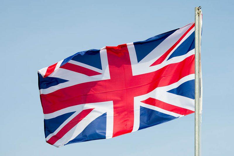 Storbritanniens flagga, Union Jack. Foto: Shutterstock.com