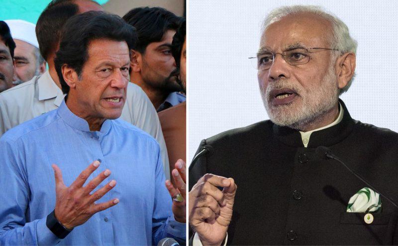 Pakistans premiärminister Imran Khan (t v) och Indiens Narendra Modi bär ett stort ansvar för att Kashmirkonflikten inte eskalerar utom kontroll. Foto: shutterstock.com.
