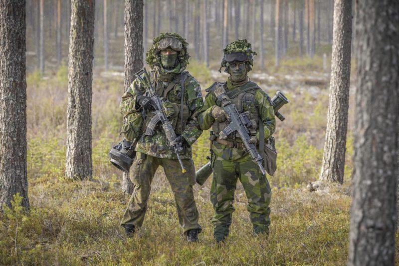 Finland och Sverige - officiellt sida vid sida. Men, vilka är frågetecknen? Foto: Jesper Moldvik, Försvarsmakten.